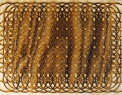 Coded Pattern into Laser Woodcut