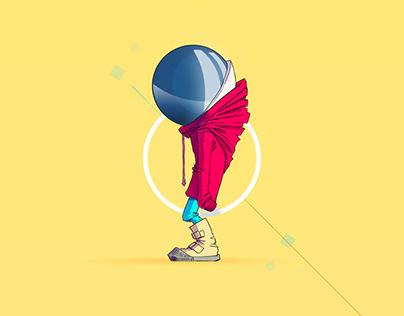 Motion Design / Character Turnaround / Walk Cycle