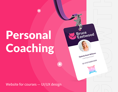 Web design for a Personal Coaching