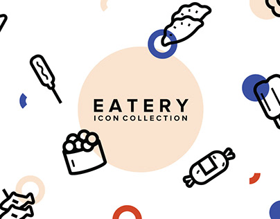 Eatery Icon Collection by YouWorkForThem Design Studio
