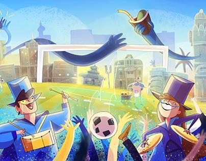 Uruguay 2018 World Cup Google doodle
