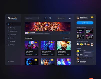 Streamix UI design concept