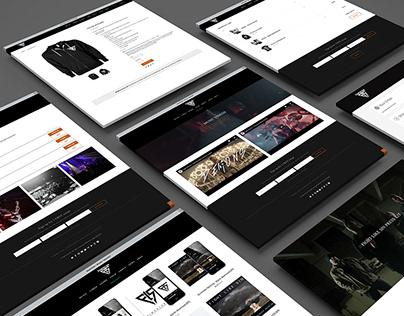 Fight Like Sin website design
