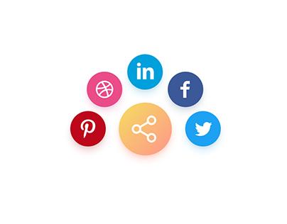 Social Sharing - Animated