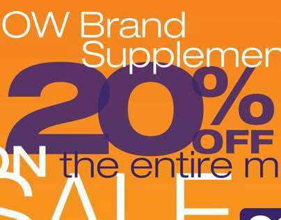 NOW Supplement Sale Sign