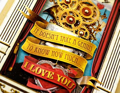 Steampunk Inspired Valentine Card