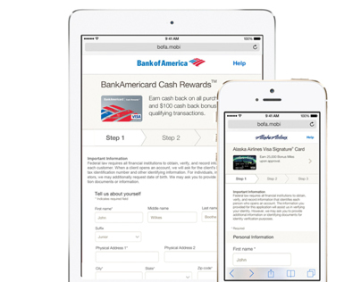 Alaska Air/Bank of America Mobile Purchasing Experience