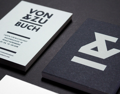 VON & ZU BUCH BOOK SHOP IDENTITY