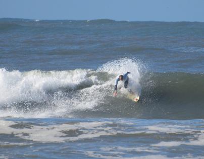 Freestyle surfers at Praia da Barra, 26 October 2013