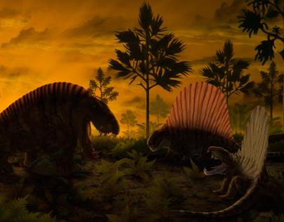Sphencodon VS Dimetrodon
