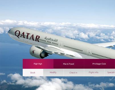 Qatar Airways Website UI/UX