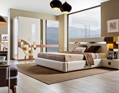 2014 Mobilya Modelleri Rise Modern Yatak ve Yemek Odası