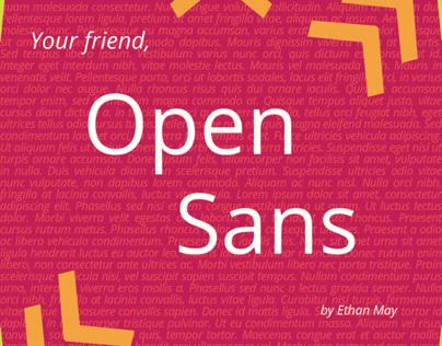 Open Sans Type Treatment Book