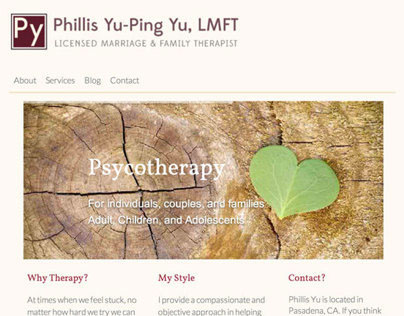Responsive Website - Marriage & Family Therapist