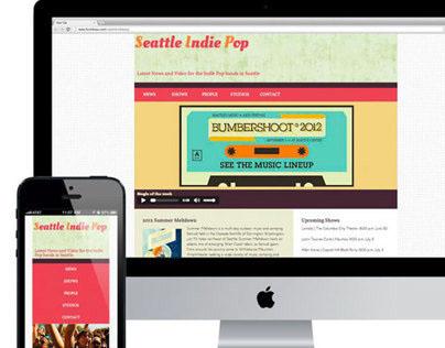 Responsive Website - Seattle Indie Pop