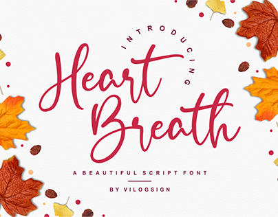 Heart Breath a Beautiful Script Font