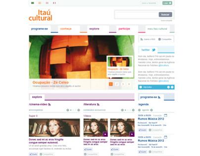 itaú Cultural Website Re-design