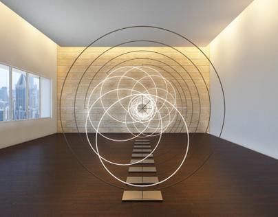 Spirale di luce nello spazio