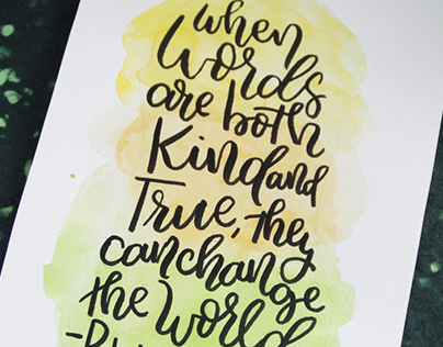 Brush Lettered Quotes