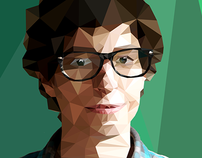 Low-Poly self portrait.