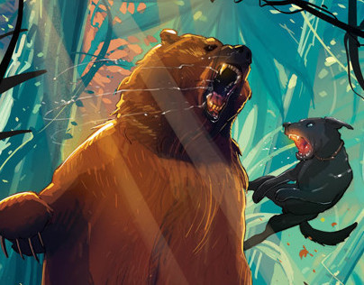 the boy and a bear
