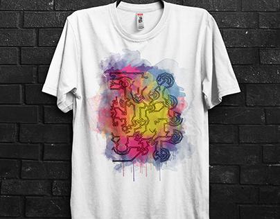 Watercolor Tshirt design