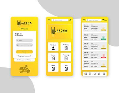 Lafona Formal Mobile App Design UI & UX