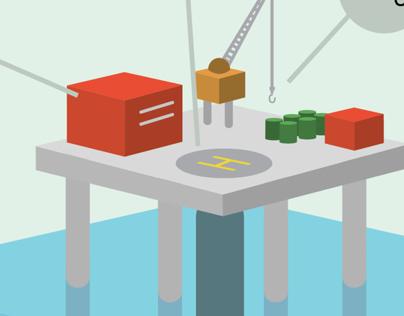 Infográfico: Plataforma de petróleo