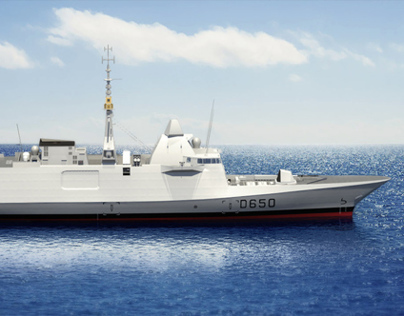 3d Representation of a French Warship