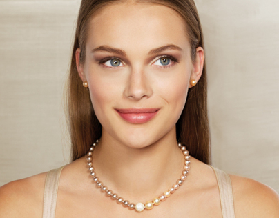 One model picture wearing various jewels