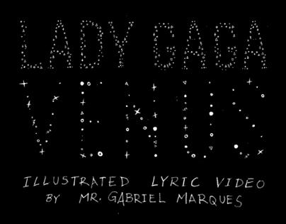 LADY GAGA VENUS ILLUSTRATED LYRIC VIDEO