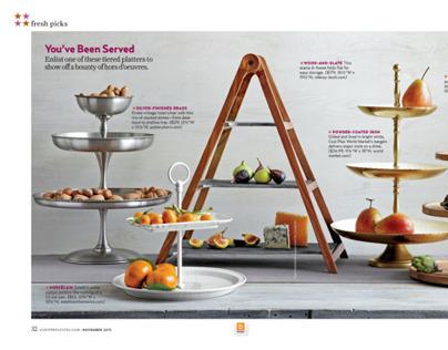 shelved tiers