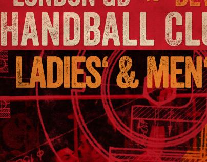 London GD Handball Promotional Poster