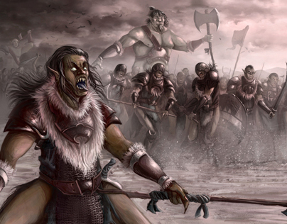 Orcs at fight