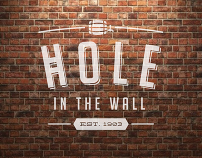 Hole in the Wall, Market Tavern  & Kitchen Identitiy
