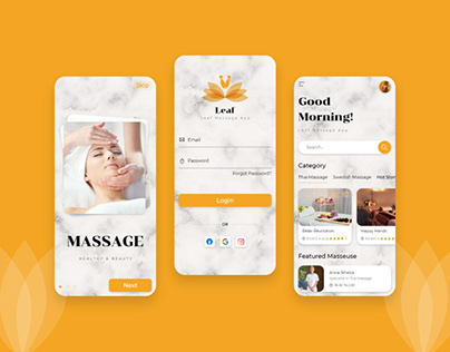 Massage Booking App Design