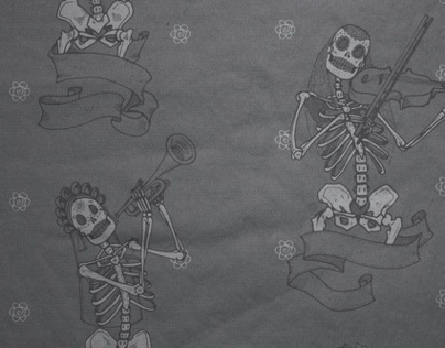 Patterning: Muertos Musicians Repeat