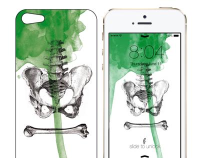 "iPhone Case 5/S ""Allan Poe"" Series"