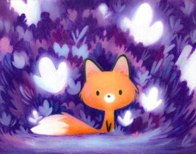 Little fox in the night