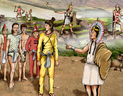 Ancient Story - Pre- Colonial  Spanish Story Boards