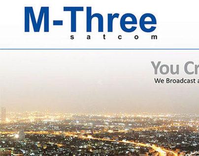 M-THREE satcom, company brochure