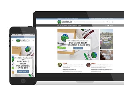 Ecommerce Design & Build (Living Leaf Tea)