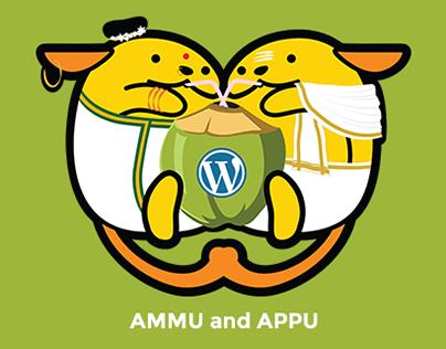 Ammu and Appu - WordCamp Kochi 2017 Wapuu