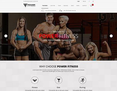 GYM & Fitness Web Design