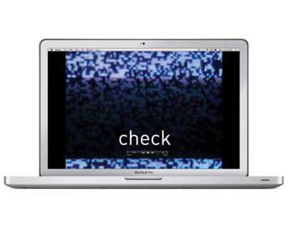 'check' - Film Title Sequence