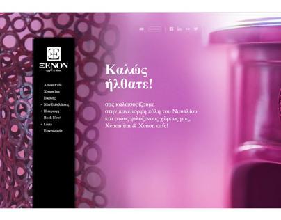 Xenon Hotel & Cafe - Web Design