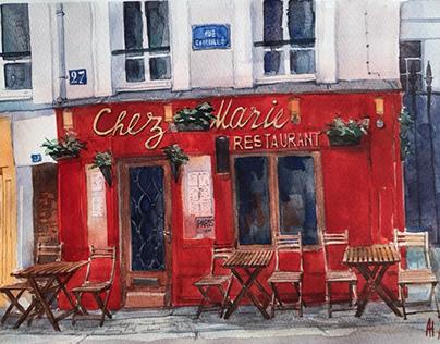 Watercolor and Paris