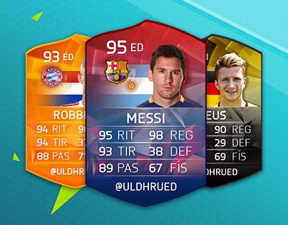 Diseño cartas FIFA 16 | No Oficiales
