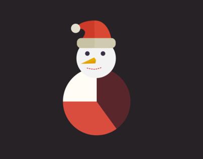Flat Winter & Christmas Infographics