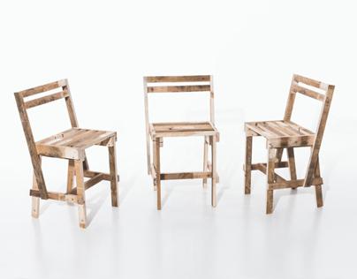 1 Europallete = 3 Chairs